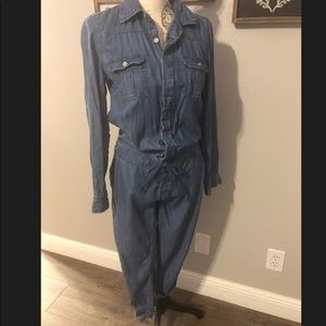 New York & Company Denim Romper